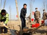 黄晓武戴启远率四大班子领导参加义务植树活动